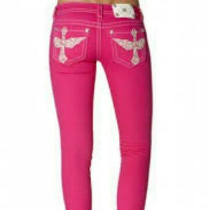 Miss me hot pink skinny jeans